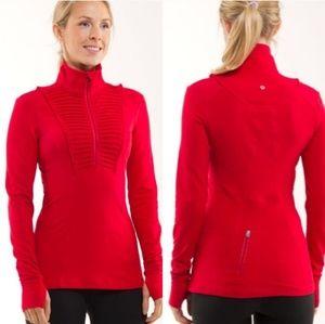Lululemon Run Your Heart Out Half Zip Pullover